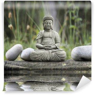 Carta da Parati in Vinile Statua bouddha