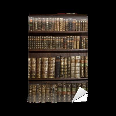 Carta da parati storici vecchi libri in biblioteca for Carta da parati libri