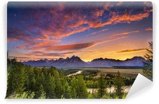 Carta da Parati in Vinile Summer Sunset a Snake River Overlook