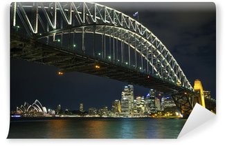 Carta da Parati in Vinile Sydney Harbour Bridge in Australia durante la notte