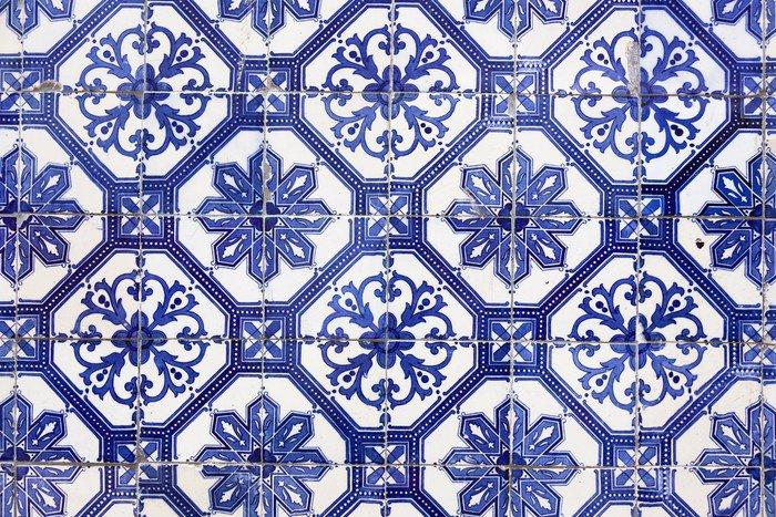 Carta da parati in vinile tegola portoghese tradizionale for Azulejos europa 9 telefono