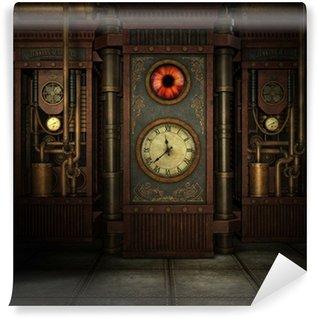Carta da Parati in Vinile Tempo Steampunk