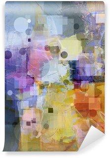Carta da Parati in Vinile Texture di sfondo con cerchi e quadrati