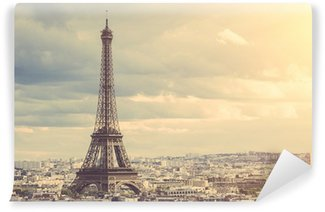 Carta da Parati in Vinile Tour Eiffel a Parigi
