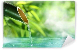 Carta da Parati in Vinile Tradizionale Fontana di bambù