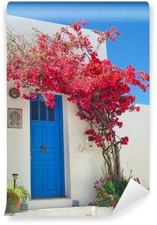 Carta da Parati in Vinile Tradizionale porta greca sull'isola di Sifnos, Grecia
