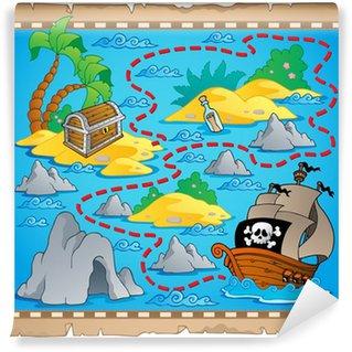 Carta da Parati in Vinile Treasure mappa immagine Tema 3