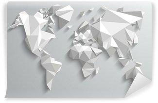 Carta da Parati in Vinile Triangolo mondo Mappa illustrazione