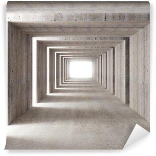 Carta da Parati in Vinile Tunnel di cemento e luci laterali