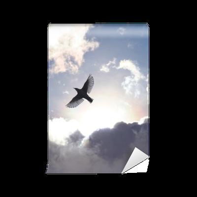 Carta da Parati in Vinile Uccello angelo in cielo