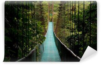 Carta da Parati in Vinile Un ponte sospeso nella giungla del Costa Rica