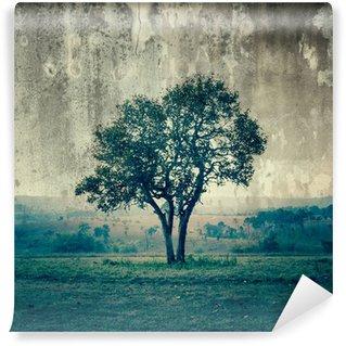 Carta da Parati in Vinile Un singolo albero rappresenta la solitudine e la tristezza