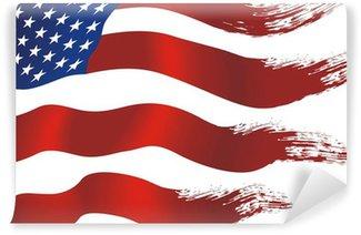 Carta da Parati in Vinile Usa flag
