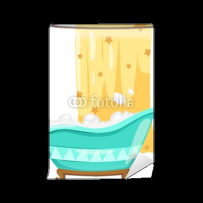 Carta da parati vasca da bagno con tenda doccia pixers viviamo per il cambiamento - Tenda per vasca da bagno ...