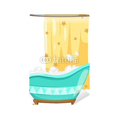 Carta da parati vasca da bagno con tenda doccia pixers - Tenda vasca da bagno ...