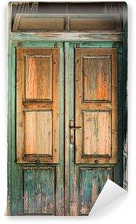 Carta da Parati in Vinile Vecchia porta di legno