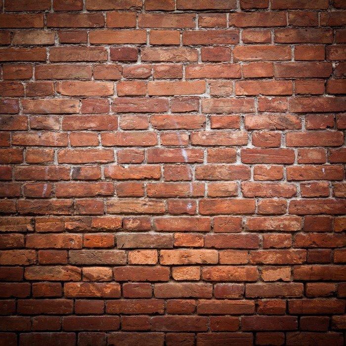Carta da Parati in Vinile Vecchio grunge texture muro di mattoni rossi - Temi
