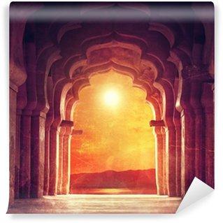 Carta da Parati in Vinile Vecchio tempio in India