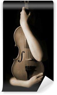 Carta da Parati in Vinile Vecchio violino