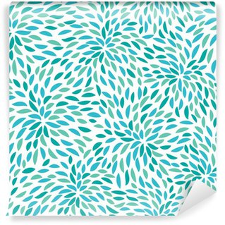 Carta da Parati in Vinile Vector flower pattern. Seamless floral background.