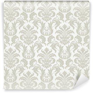 Carta da Parati in Vinile Vector seamless pattern damascato floreale