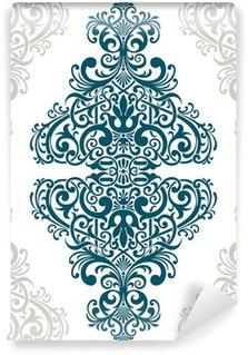 Carta da Parati in Vinile Vector vintage ornato telaio di copertura cartolina confine