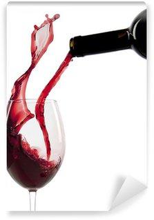 Carta da Parati in Vinile Versare il vino rosso in un bicchiere
