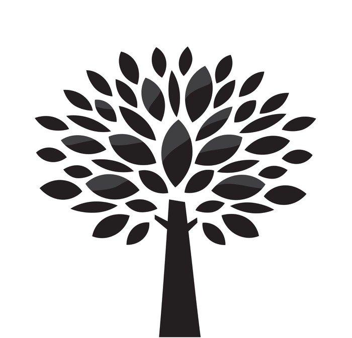 Carta da parati in vinile vettore albero stilizzato in for Carta da parati vinile