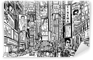 Carta da Parati in Vinile Via nella città di New York