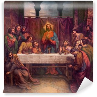 Carta da Parati in Vinile Vienna - Affresco di Ultima suppe in chiesa Altlerchenfelder