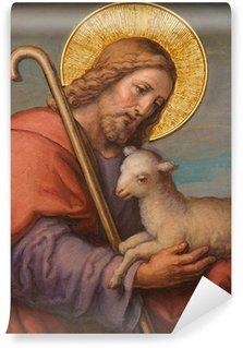 Carta da Parati in Vinile Vienna - Fresco di Gesù come Buon Pastore in Carmelitani chiesa