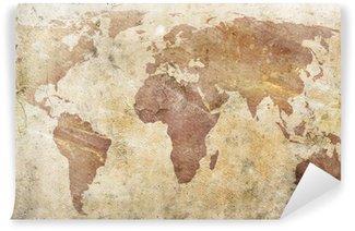 Carta da Parati in Vinile Vintage mappa del mondo