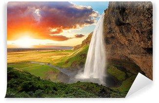 Carta da Parati in Vinile Waterfall, Iceland - Seljalandsfoss