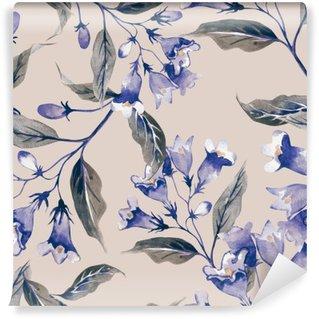 Carta da Parati in Vinile Weigelas Flower Seamless Pattern