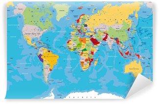 Carta da Parati in Vinile Weltkarte_kompass