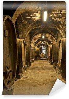 Carta da Parati in Vinile Wine cellar