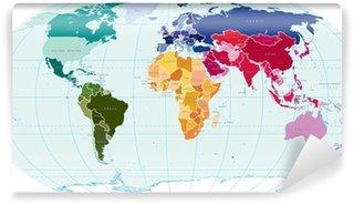 Carta da Parati in Vinile World map