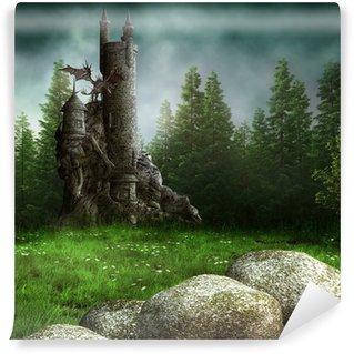 Carta da Parati in Vinile Zamek fantasia w lesie