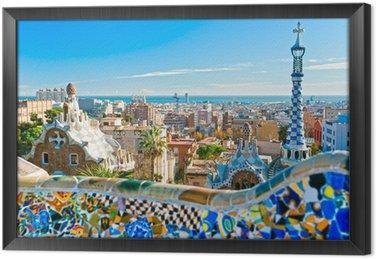 Çerçeveli Tuval Barselona, İspanya Park Guell
