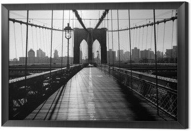 Çerçeveli Tuval Brooklyn Köprüsü, Manhattan, New York, ABD