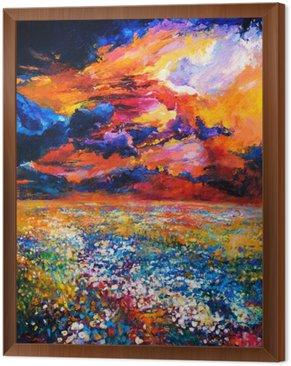 Çerçeveli Tuval Çiçek Alan.