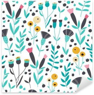 Çıkartması Dikişsiz parlak İskandinav floral pattern