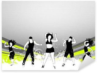 Çıkartması Pixerstick Fitness dans