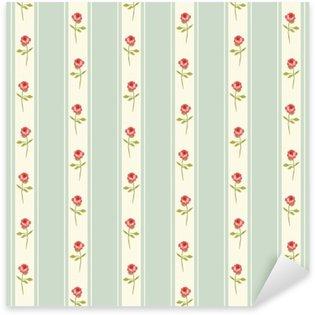 Çıkartması Pixerstick Gül ve mutfak tekstil ya da çarşaf kumaş, perde ya da iç duvar tasarımı, ideal Lekeli sevimli sorunsuz Shabby Chic desen hurda kağıt vb için kullanılabilir