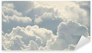 Çıkartması Mavi gökyüzü ve güzel bulutlar
