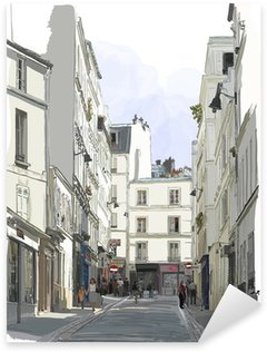 Çıkartması Pixerstick Paris'in Montmartre yakın sokak