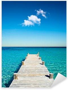 Çıkartması Plage vacances ponton bois