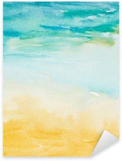 Çıkartması Renk suluboya resim sanatını vuruş