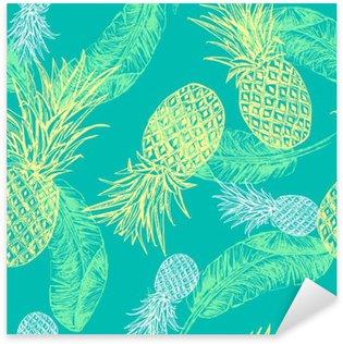 Çıkartması Tropikal seamless pattern.