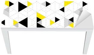 Cobertura para Mesa e Escrivaninha Fundo padrão geométrico